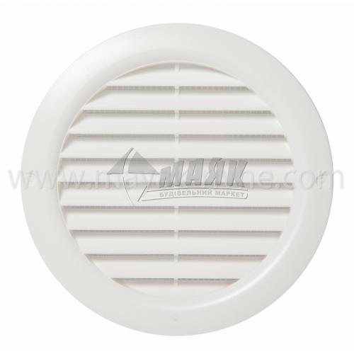 Решітка вентиляційна кругла ДОМОВЕНТ ДВ 125 бВс 148×160 мм