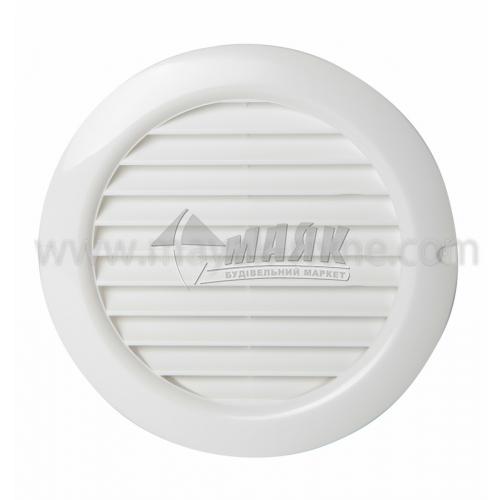 Решітка вентиляційна кругла ДОМОВЕНТ ДВ 125 бВс 176×200 мм