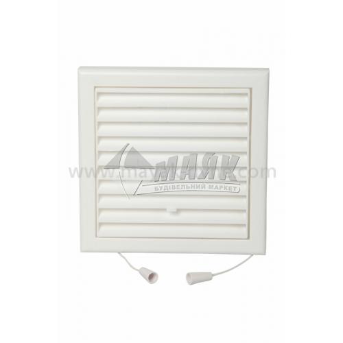 Решітка вентиляційна квадратна VENTS МВ 100 ВРс регульована 154×154 мм