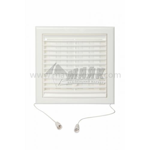 Решітка вентиляційна квадратна VENTS МВ 101 ВРс регульована 154×154 мм