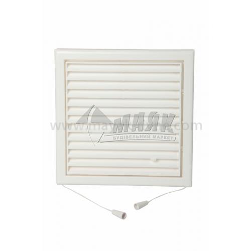 Решітка вентиляційна квадратна VENTS МВ 102 Рс регульована 187×187 мм