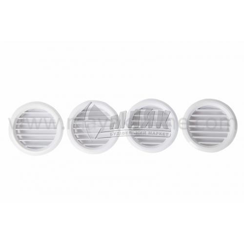 Решітка вентиляційна кругла VENTS МВ 50/4 бВ D59 4 шт біла