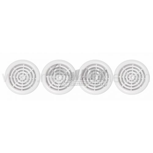 Решітка вентиляційна кругла VENTS МВ 51/4 бВ D59 4 шт біла