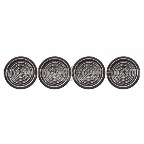 Решітка вентиляційна кругла VENTS МВ 51/4 бВ D59 4 шт коричнева