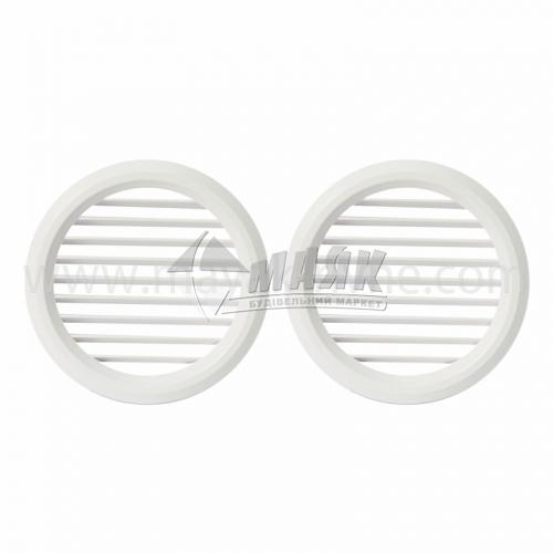 Решітка вентиляційна кругла VENTS МВ 80/2 бВ D100 2 шт біла