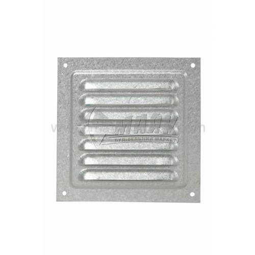 Решітка вентиляційна металева квадратна VENTS МВМ 125с Ц 125×125 мм