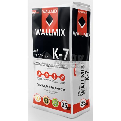 Клей для облицювальної плитки Wallmix K-7 25 кг