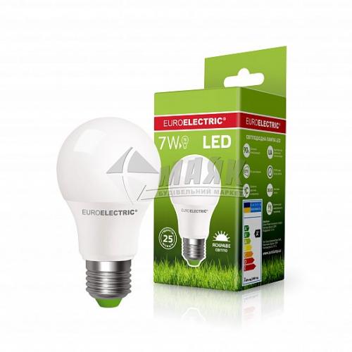 Лампа світлодіодна класична (груша) EUROELECTRIC 7Вт Е27 А60 4000°К (LED-А60-07274(EE))
