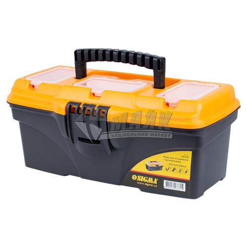 Ящик для інструменту з лотком та органайзерами SIGMA 320×165×136 мм пластиковий