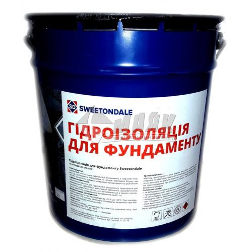 Мастика гідроізоляційна бітумна Sweetondale Для фундаменту 17 кг