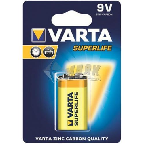 Батарейка VARTA Longlife 6F22 BLI 1 Zinc-carbon крона сольова (цинково-вугільна) 1 шт