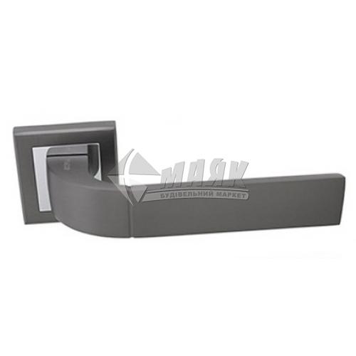Ручки дверні на розетці Apecs Windrose Solano H-18104-A-GRF графіт