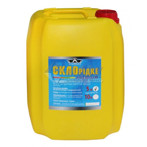 Клей натрієвий (рідке скло) Альянсед 5 л/7 кг