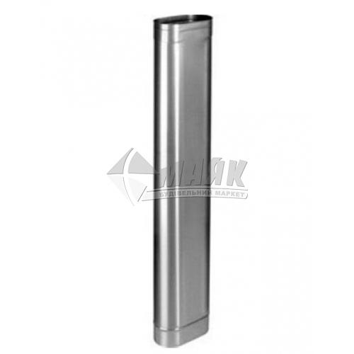 Труба димоходу овальна ВЕНТ УСТРІЙ 1,0×х120/240 мм 1 м нержавіюча сталь 304