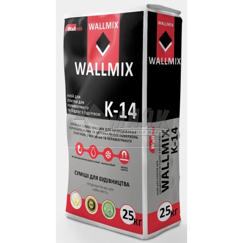 Клей для облицювальної плитки Wallmix K-140 25 кг