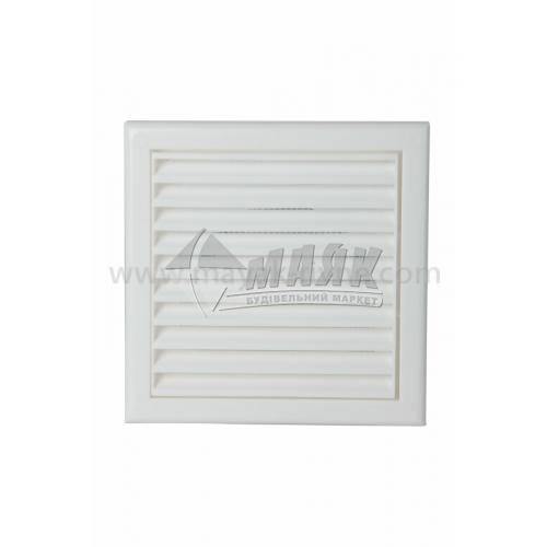 Решітка вентиляційна квадратна ДОМОВЕНТ ДВ 100 с роз'ємна 154×154 мм біла