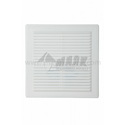 Решітка вентиляційна квадратна ДОМОВЕНТ ДВ 150 с роз'ємна 204×204 мм біла