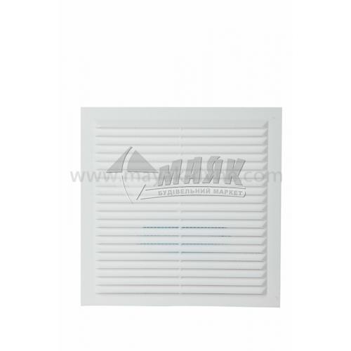 Решітка вентиляційна квадратна ДОМОВЕНТ ДВ 150-1 с нероз'ємна 190×190 мм біла