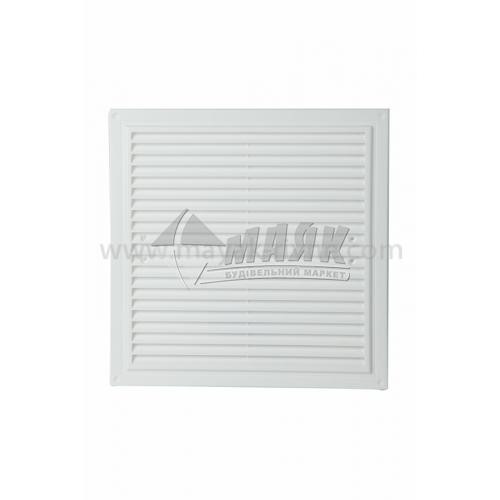 Решітка вентиляційна квадратна ДОМОВЕНТ ДВ 300×300 сМ нероз'ємна на лапках