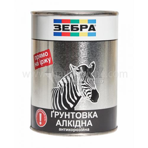 Ґрунтовка антикорозійна ZEBRA ПФ-010М 0,9 кг 18 темно-сіра