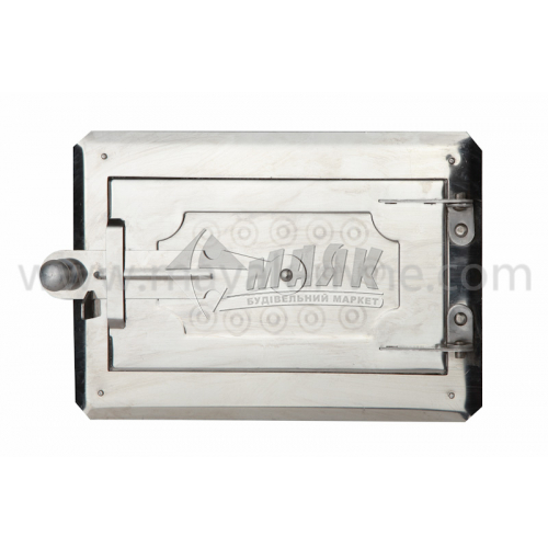 Дверцята піддувні нержавіюча сталь 265×180 мм 0,855 кг