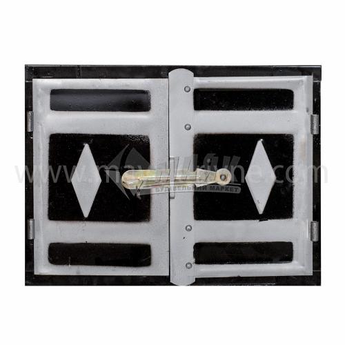 Дверцята для печі металеві 460×350 мм 2,6 кг чорні