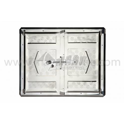 Дверцята для печі нержавіюча сталь 410×310 мм 2,32 кг