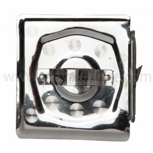 Дверцята прочисні нержавіюча сталь ручка-вушко 120×120 мм 0,33 кг