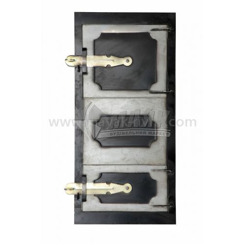 Дверцята спарені металеві 260×540 мм 3,16 кг чорні