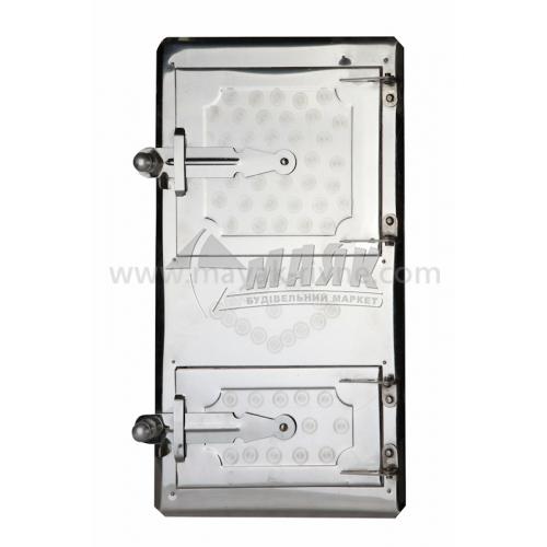 Дверцята спарені нержавіюча сталь 265×540 мм 2,82 кг
