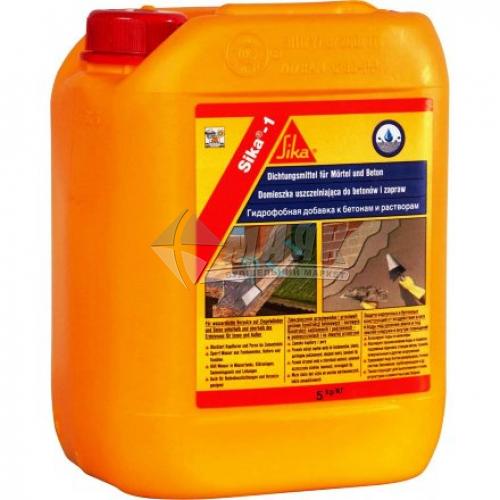 Добавка до бетону та цементних розчинів Sika-1 гідрофобна 5 кг