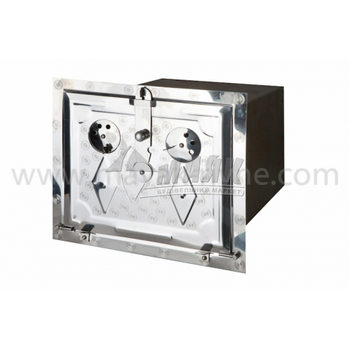 Духовка для печі нержавіюча сталь 380×320 мм 4,4 кг