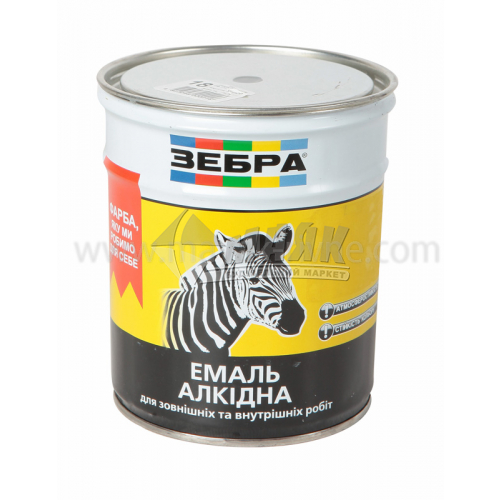 Емаль алкідна ZEBRA ПФ-116 0,9 кг 18 темно-сірий