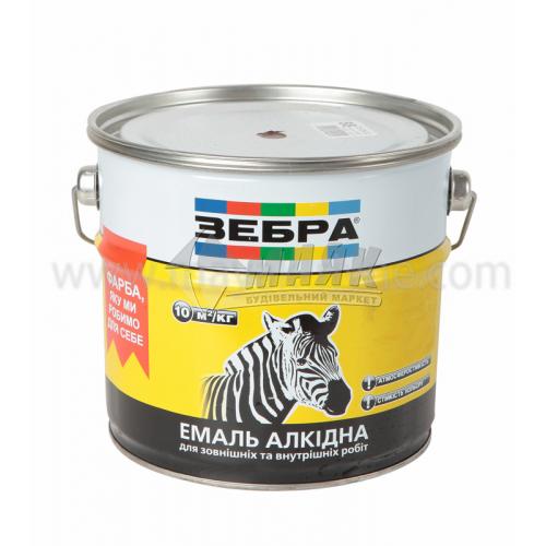 Емаль алкідна ZEBRA ПФ-116 2,8 кг 85 жовто-коричневий