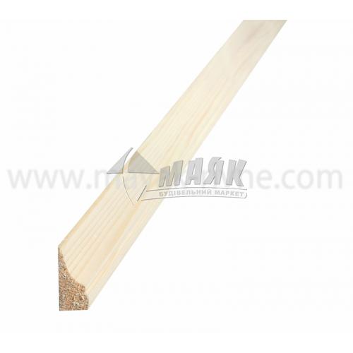 Плінтус підлоговий дерев'яний 2,3 м