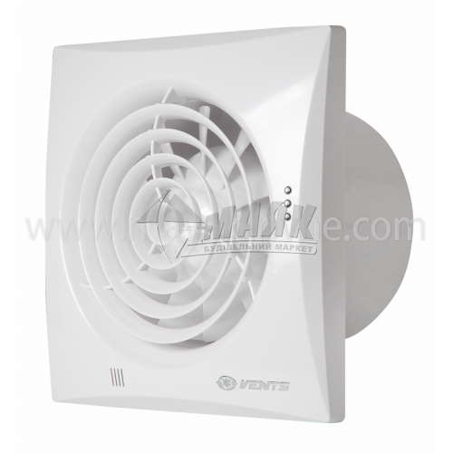 Вентилятор витяжний VENTS 125 Квайт 182×182 мм