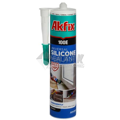 Герметик силіконовий універсальний Akfix 100E 280 мл сірий
