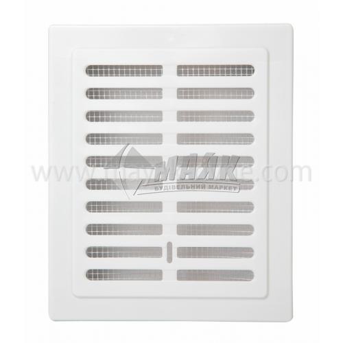 Решітка вентиляційна прямокутна Colibri KW 110×140 S 134×164 мм біла