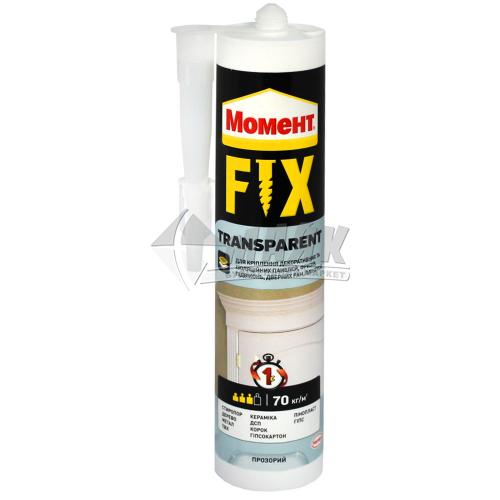 Клей монтажний (рідкі цвяхи) Момент FIX Transparent 280 г прозорий