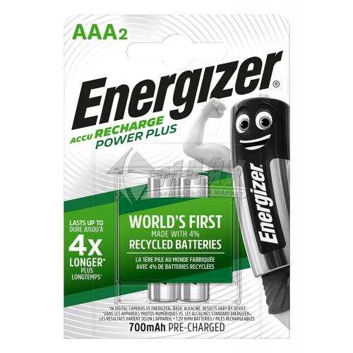 Акумулятор ENERGIZER Pre-Ch Power Plus ААА 700mAh 2 шт