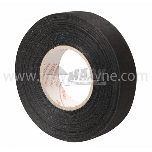 Стрічка ізоляційна на тканинній основі Certoplast 18 мм х 25 м чорна