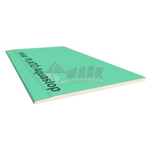 Гіпсокартон вологостійкий Siniat Plato Aquastop 9,5×1200×500 мм (0,6 кв.м)