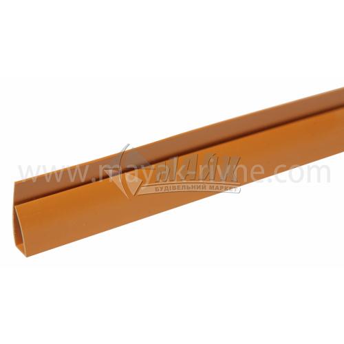 Профіль монтажний ПВХ стартовий П-подібний 3 пог.м 8,5 мм темно-коричневий