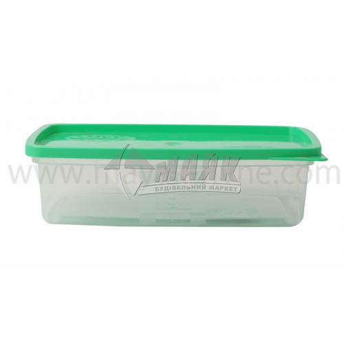 Контейнер харчовий квадратний 0,5 л пластиковий з кришкою