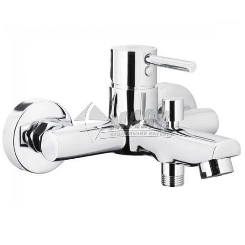 Змішувач для ванни Armatura Neda Chrome без душового комплекту одноважільний настінний