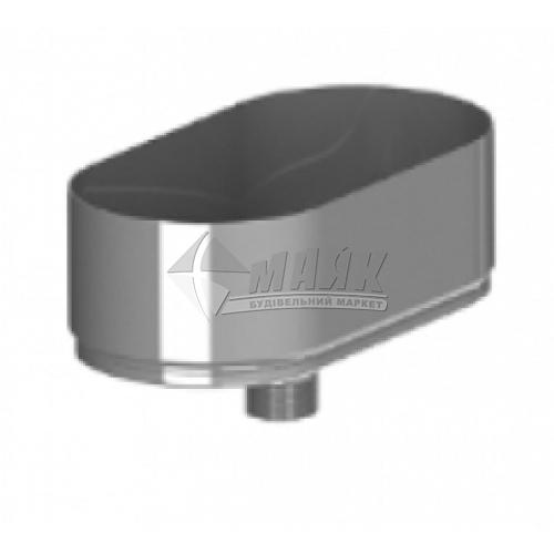 Збірник конденсату (лійка) димоходу овальний ВЕНТ УСТРІЙ 0,5×120/240 мм нержавіюча сталь 304