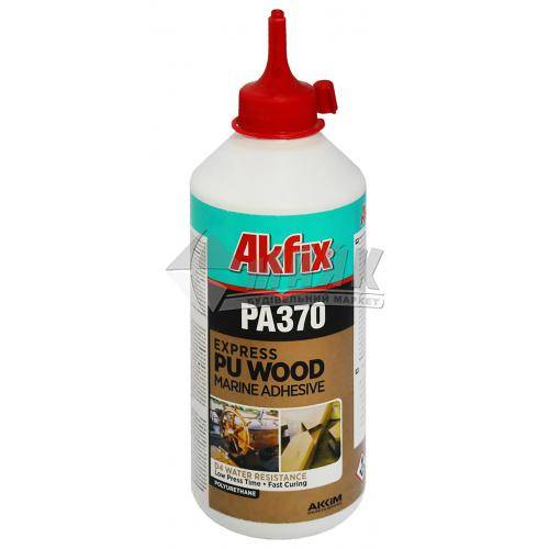 Клей для деревини поліуретановий Akfix PA370 Експрес D4 500 г прозорий