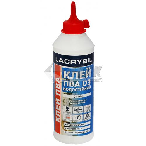 Клей для деревини LACRYSIL ПВА D3 400 г