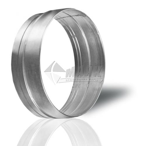 З'єднувач круглих вентиляційних каналів VENTS ПМ 120 Ц 120 мм оцинкована сталь