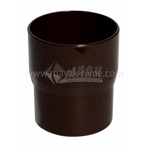 Муфта (з'єднувач) труби водозливної пластикова Profil 90 мм 90/75 коричнева